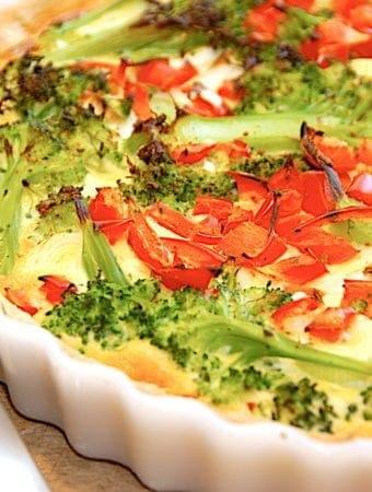 Grøntsagstærte – nem opskrift på tærte med grøntsager