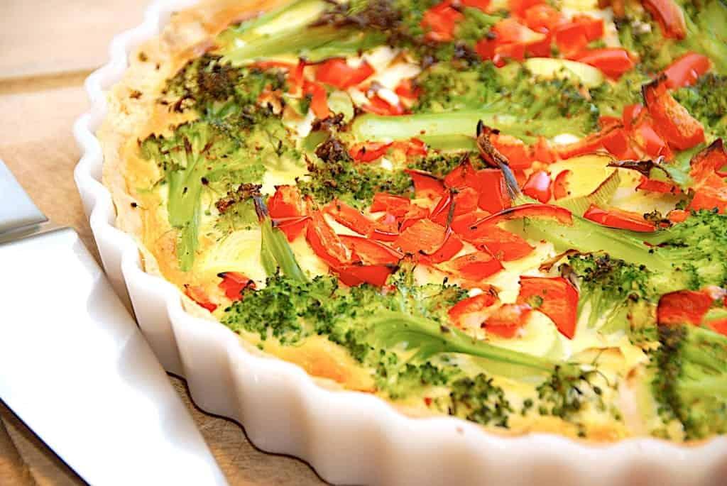Grøntsagstærte - nem opskrift på tærte med grøntsager