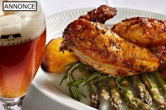 En lækker og marineret kylling, der tilberedes med en skøn citron- og oreganomarinade. Kyllingen deles i to halve, der steges møre.