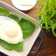 billede med pocheret æg
