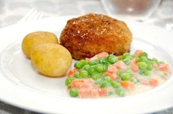 Billede med karbonader i ovn