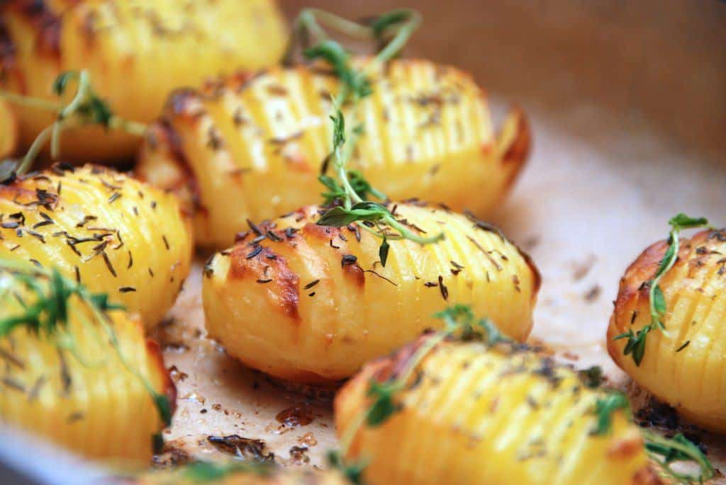 Hasselback kartofler – hasselbagte kartofler