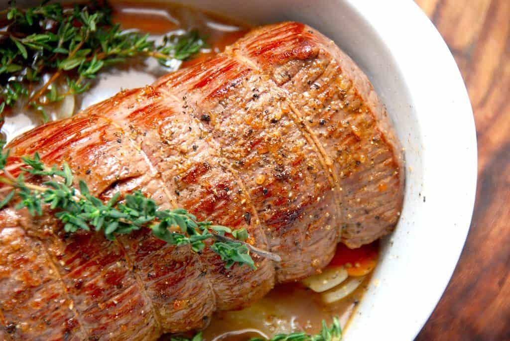 Langtidsstegt roastbeef i ovn (stegetid 6 timer)