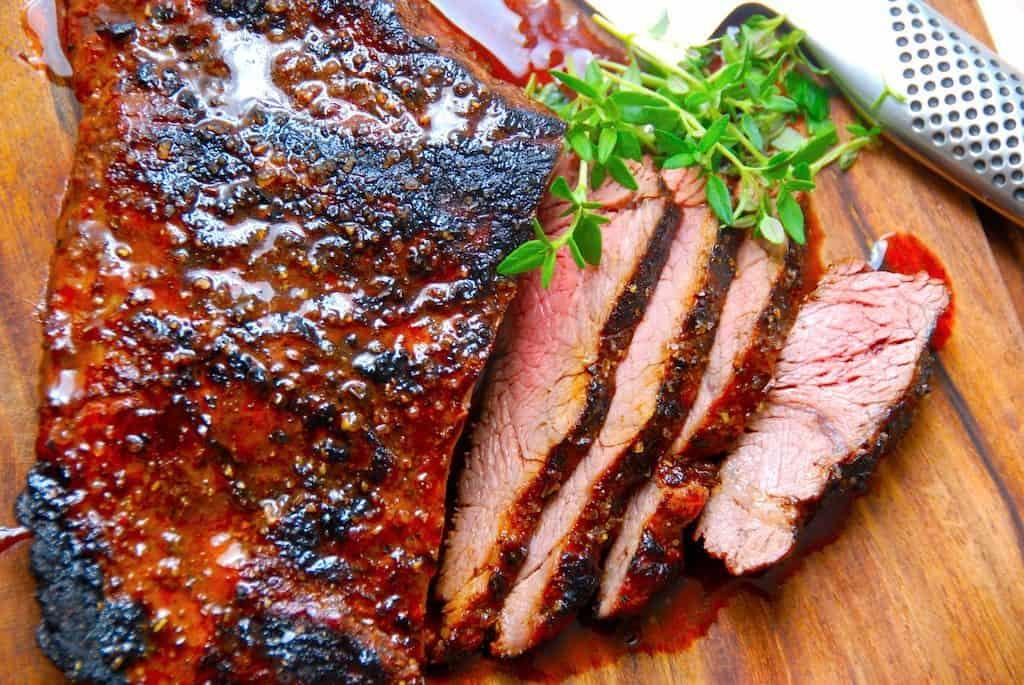Flap meat med marinade til grill eller pande