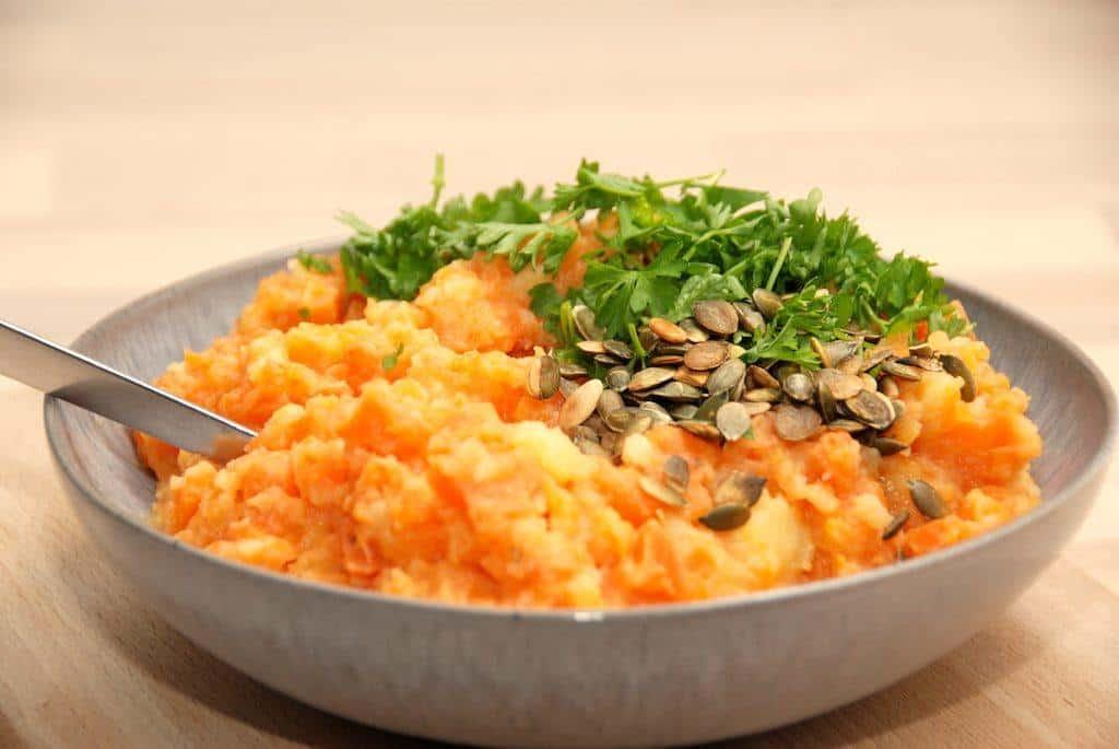 Gulerodsmos - mos med gulerødder og kartoffel