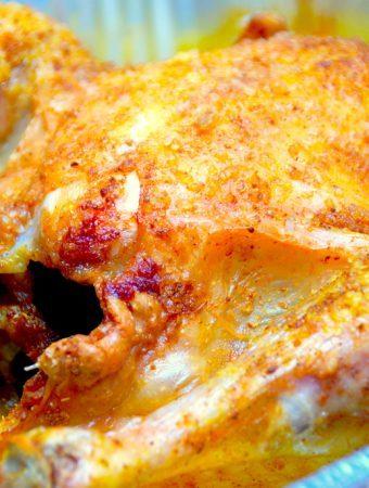 Helstegt karrykylling i ovn eller grill