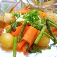 billede med grillede grøntsager