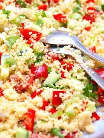 Couscous salat med masser af grøntsager