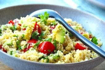 Billede resultat for couscous salat med avocado