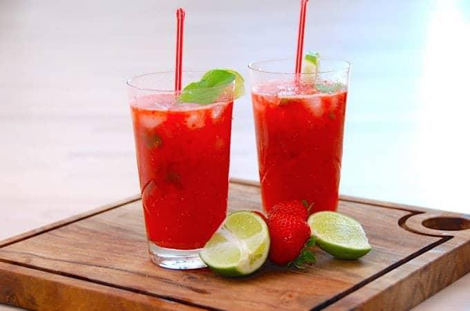 Billede resultat for jordbær mojito