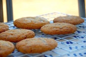 Billede med chocolate chip cookies