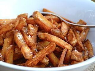 billede med sprøde pommes frites