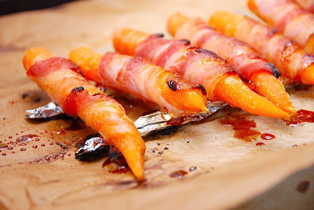 Billede resultat for baconsvøbte gulerødder