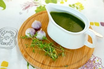 Nem opskrift på grøn hvidløgssauce uden fløde