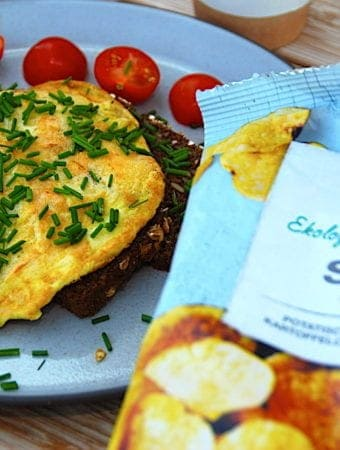 Sprød omelet med kartoffelchips kendt fra elBulli