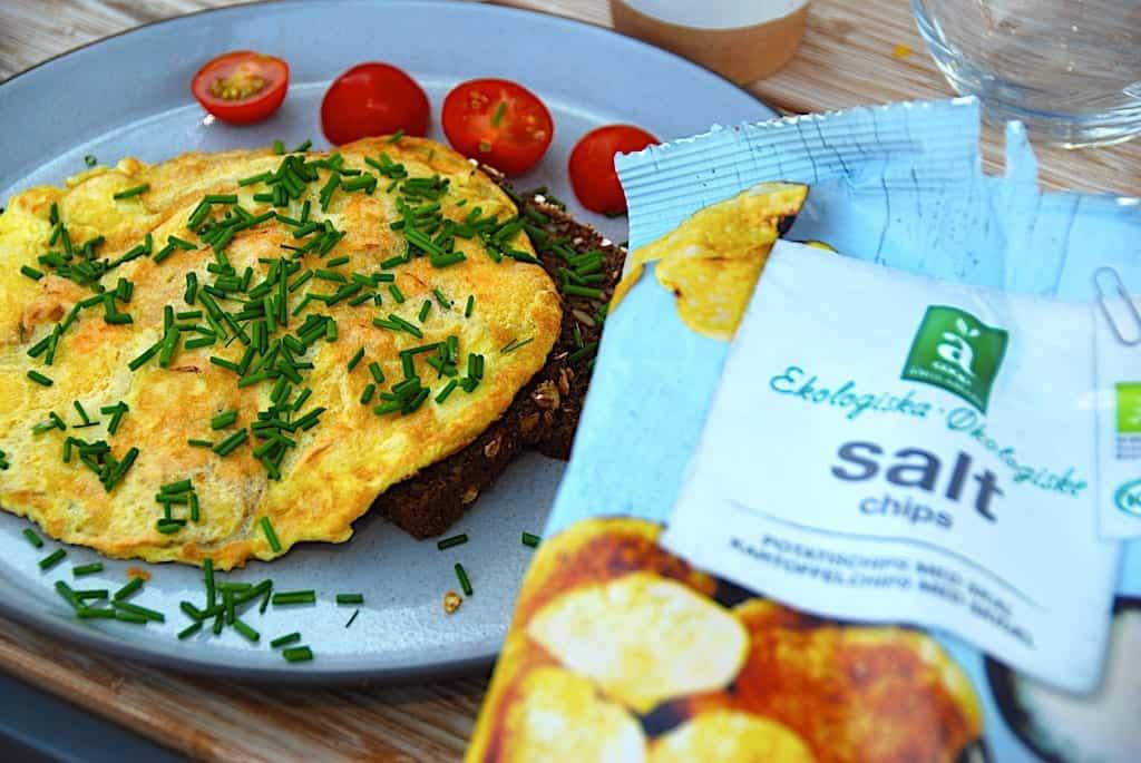 billede resultat for sprød omelet med kartoffelchips
