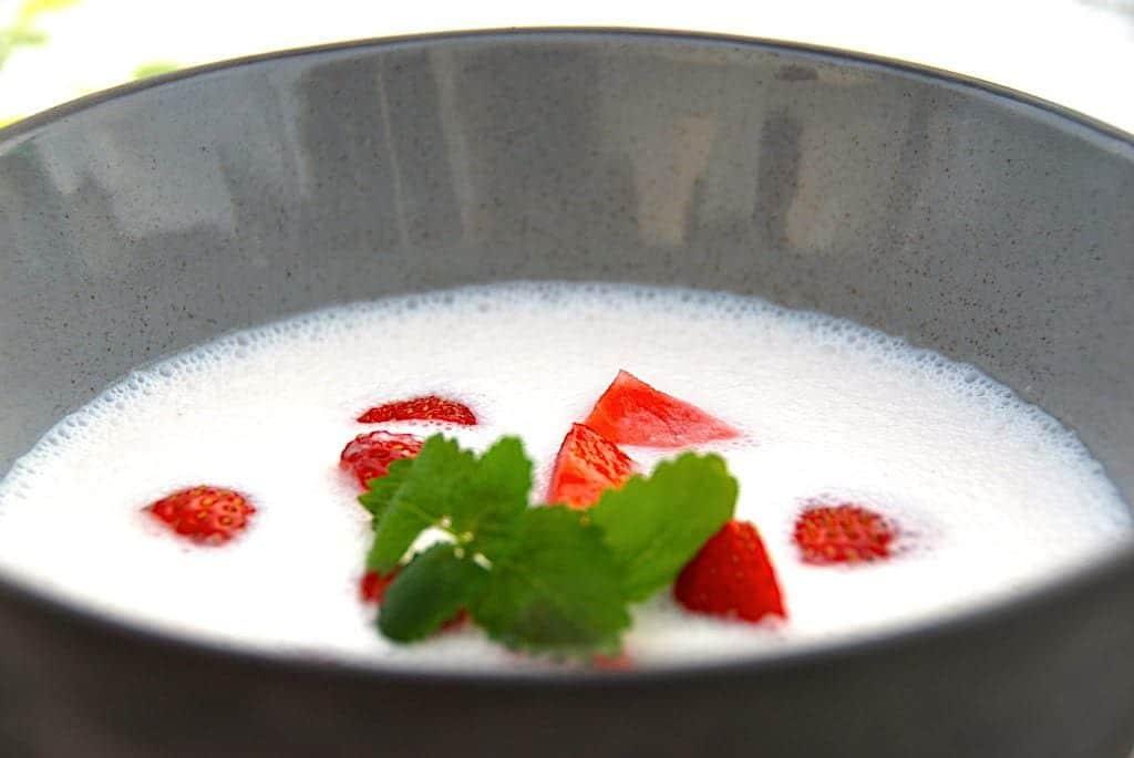 billede jordbærkoldskål