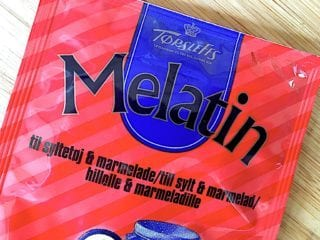 billede med rød melatin