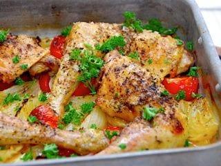 billede resultat for kyllingefad med hele kyllingelår