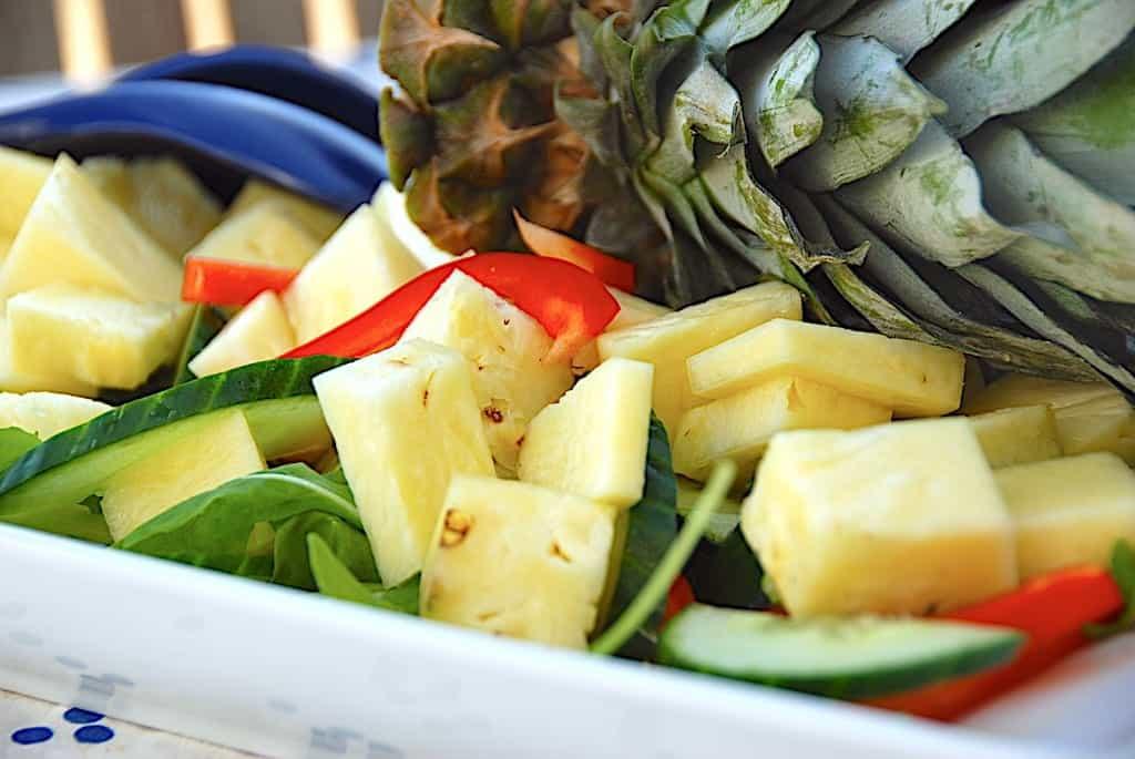 Ananassalat - nem og lækker salat med ananas
