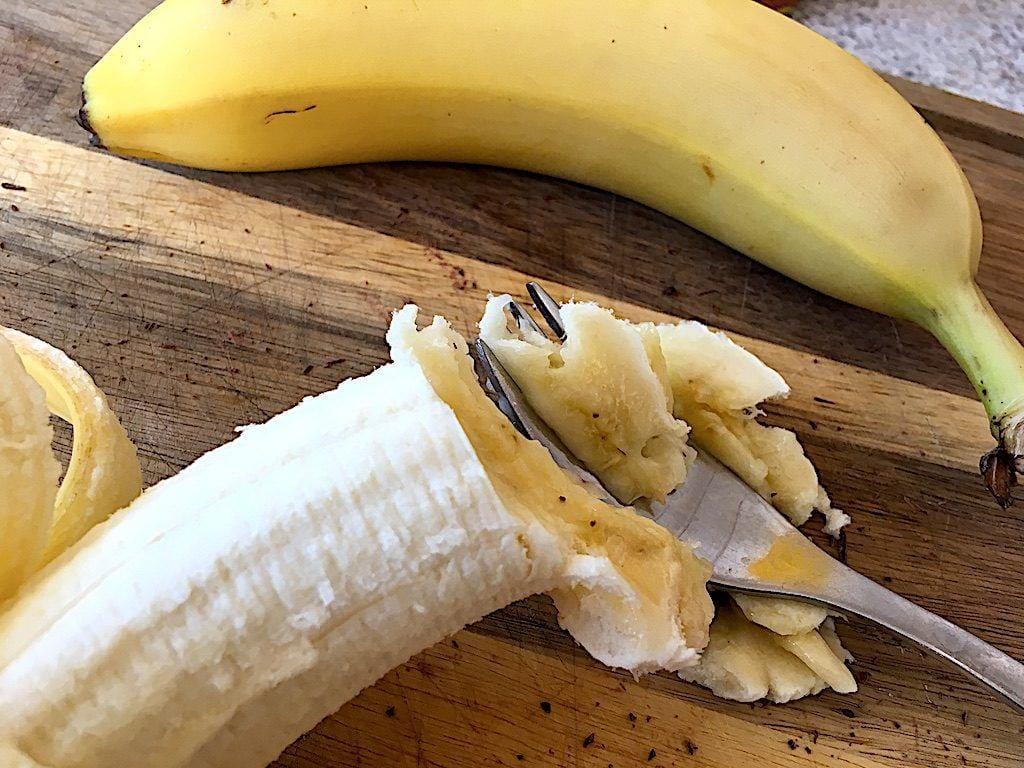 billede med banan til bananmuffins
