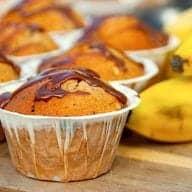 billede med bananmuffins
