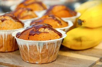 Bananmuffins – nem opskrift på muffins med banan