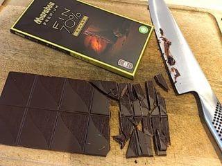 billede med chokolade til kiksekage