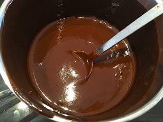 billede med chokoladecreme til kiksekage