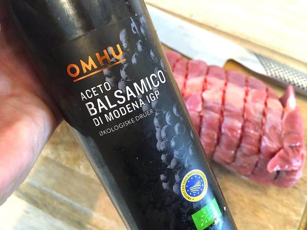 billede med omhu aceto balsamico til gammeldags oksesteg