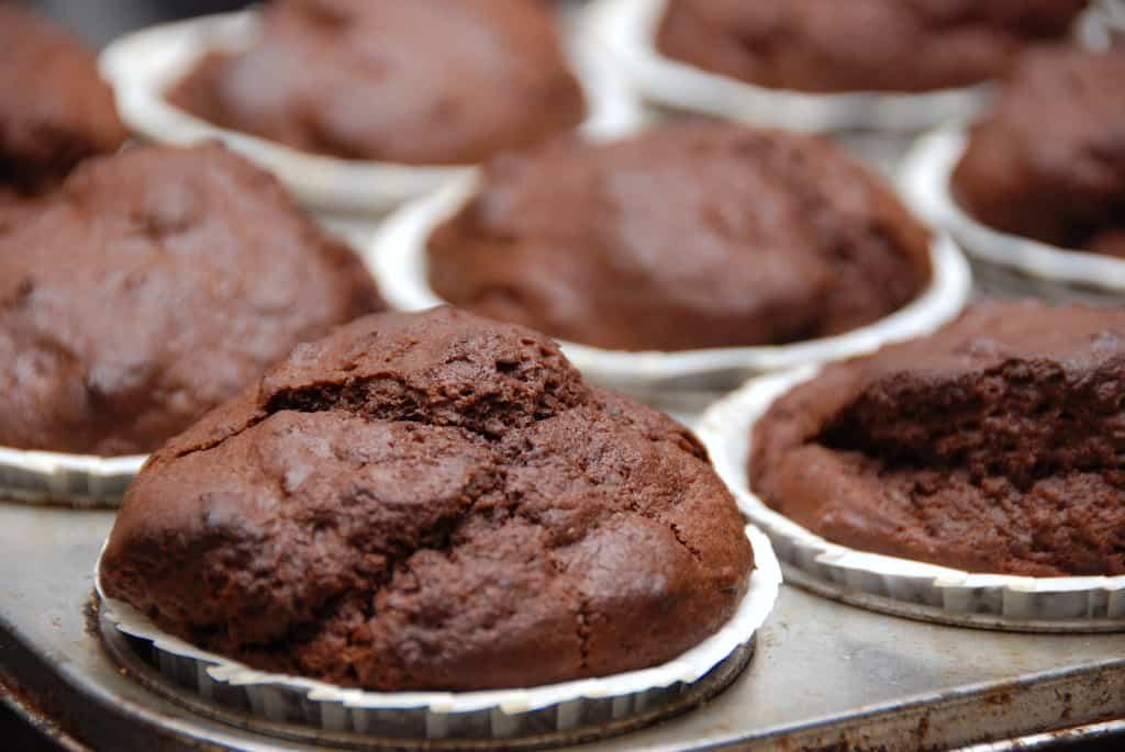 chokolade muffins opskrift