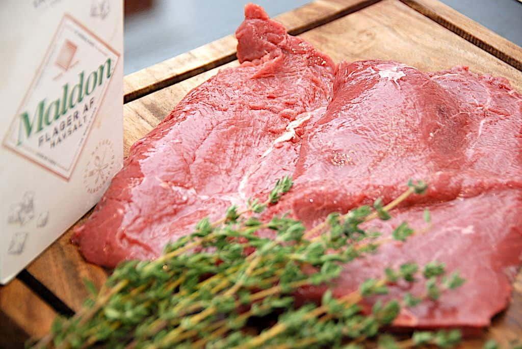 billede med flat iron steak
