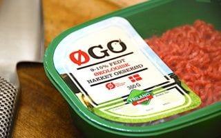 billede med hakket oksekød til moussaka