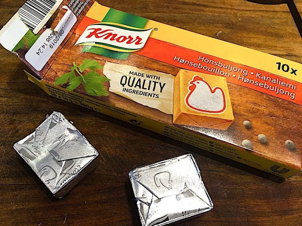 billede med Knorr hønsebouillon
