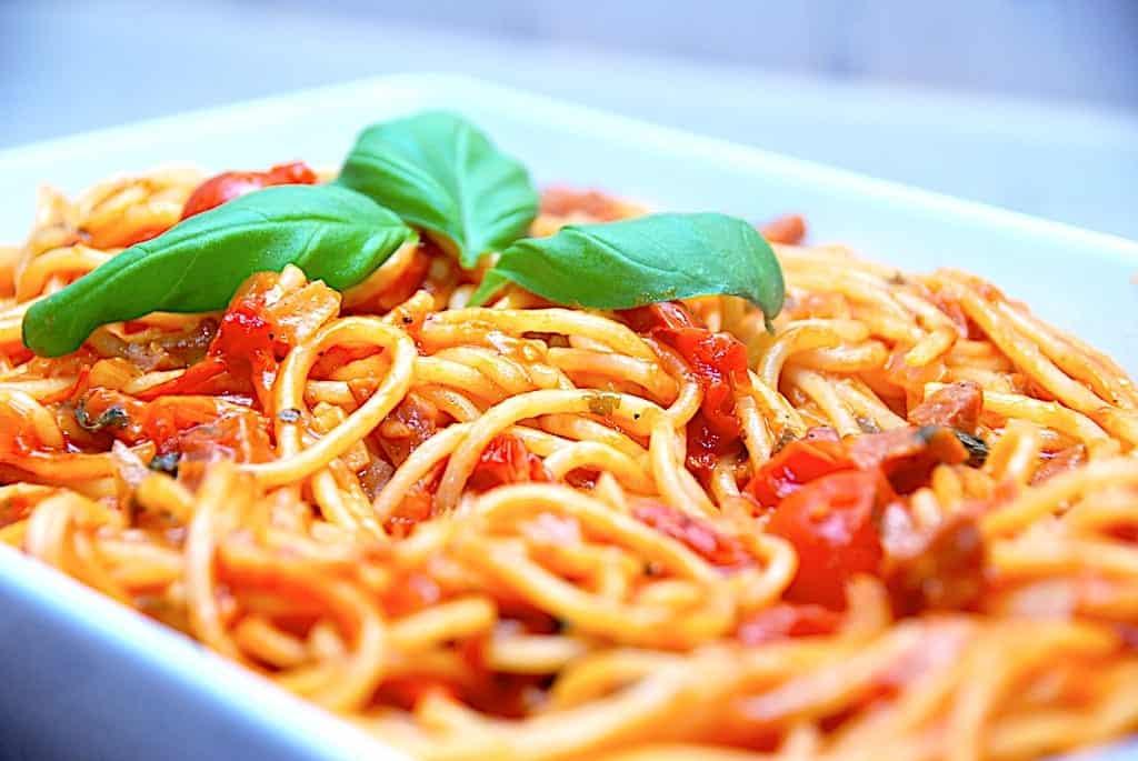 Verdens bedste one pot spaghetti opskrift med chorizo
