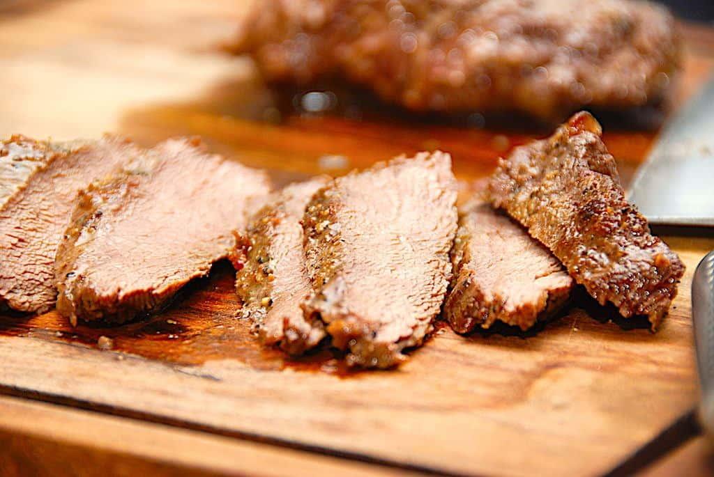 billede med stegt flat iron steak
