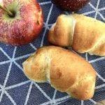 gammeldags æblehorn med hjemmelavet æblekompot