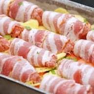 billederesultat for baconruller i fad