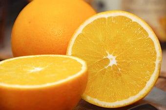 billede med appelsin
