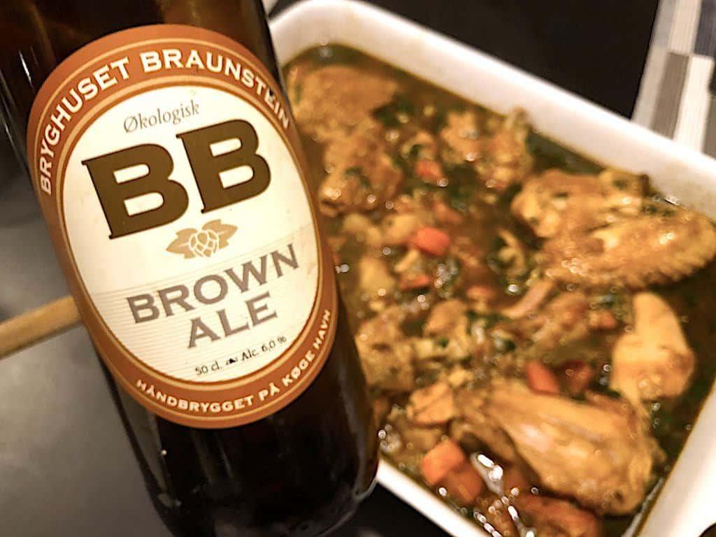 billede med brown ale fra bryghuset braunstein i køge