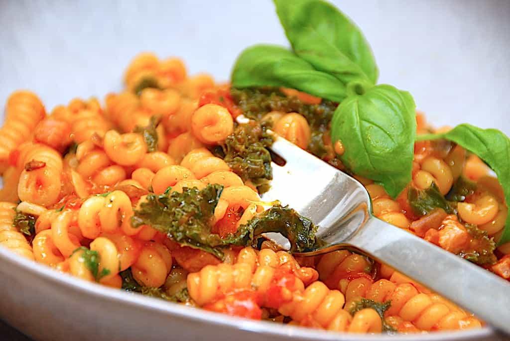 pasta med grønkål