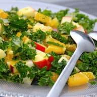 billederesultat for salat med grønkål og appelsin