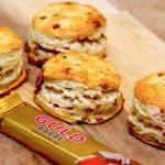 scones med guldbarre mælkechokolade