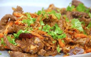 wok med oksekød