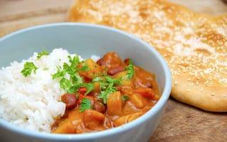 indisk curry uden kød vegetarret