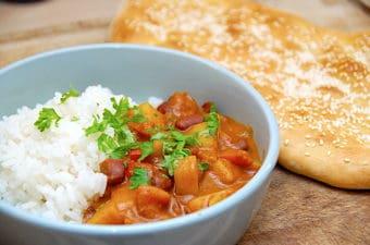Indisk curry opskrift uden kød (vegetarret)