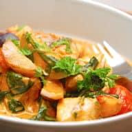 italiensk gryde med kylling og kartofler