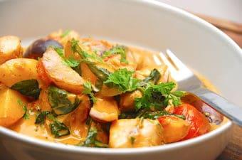 Italiensk gryde med kylling og kartofler på under 30 min.