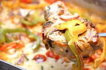 italienske koteletter med peberfrugt