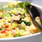 tabbouleh med broccoli og majs